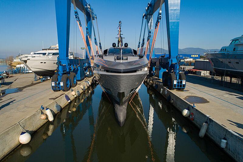 Mangusta GranSport 45/02 yacht launch in Pisa