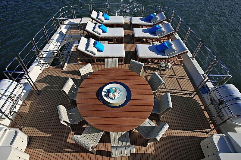 Megalodon yacht sundeck