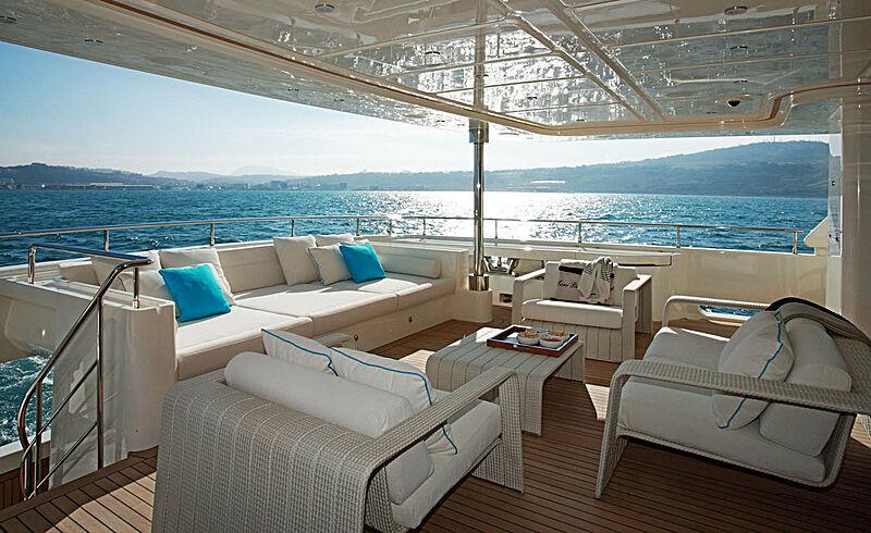 Megalodon yacht aft deck