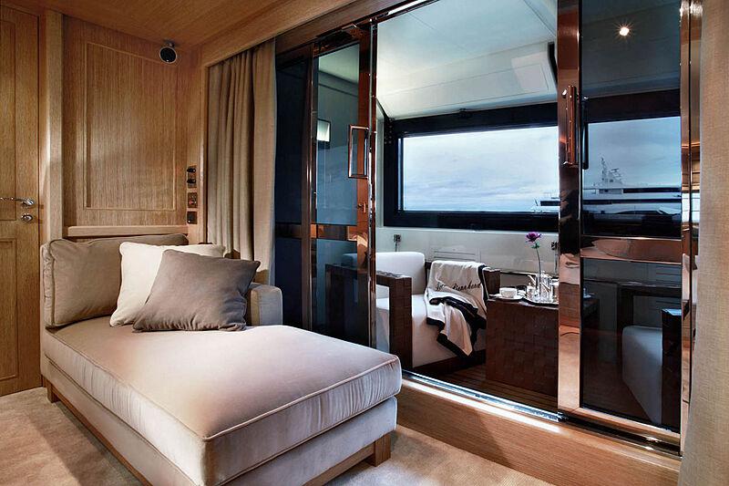 Megalodon yacht balcony