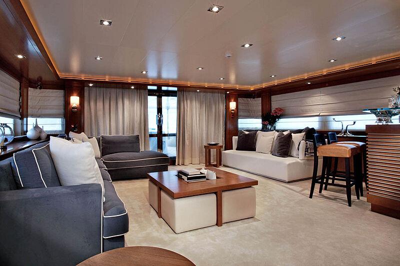 Megalodon yacht saloon