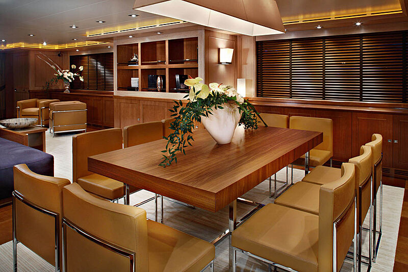 Megalodon yacht dining table