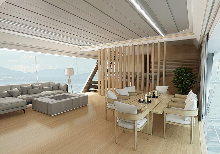 Drakkar S yacht concept exterior design