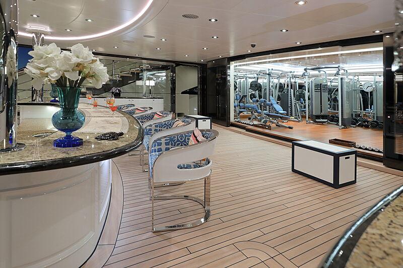 Ace yacht aft deck