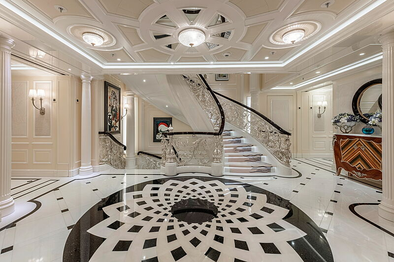 Ace yacht hall & staircase