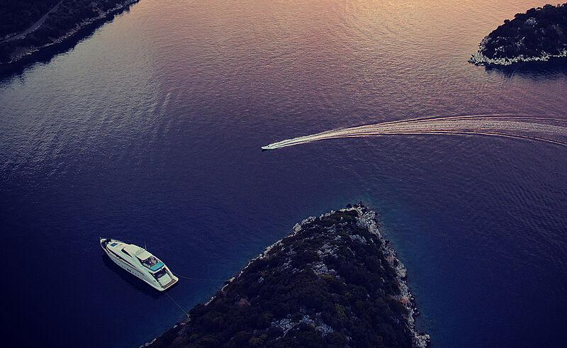 Freedom yacht anchored