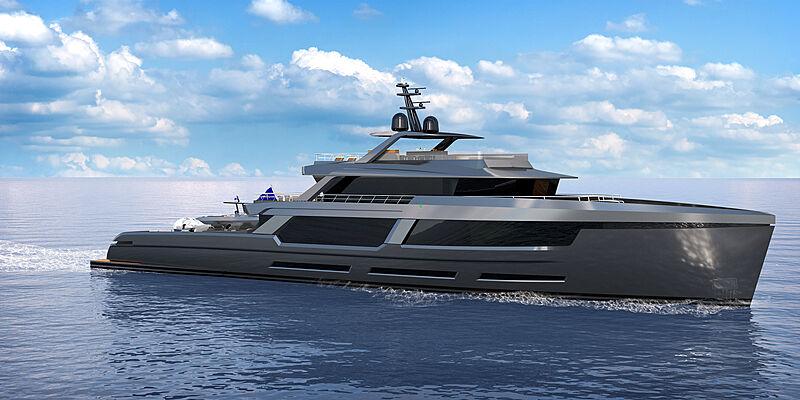 Marcelo Penna (MP) Yacht Design 50m Explorer yacht concept
