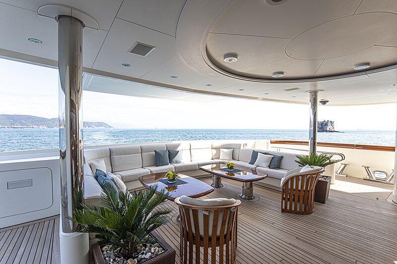 Anna I yacht deck