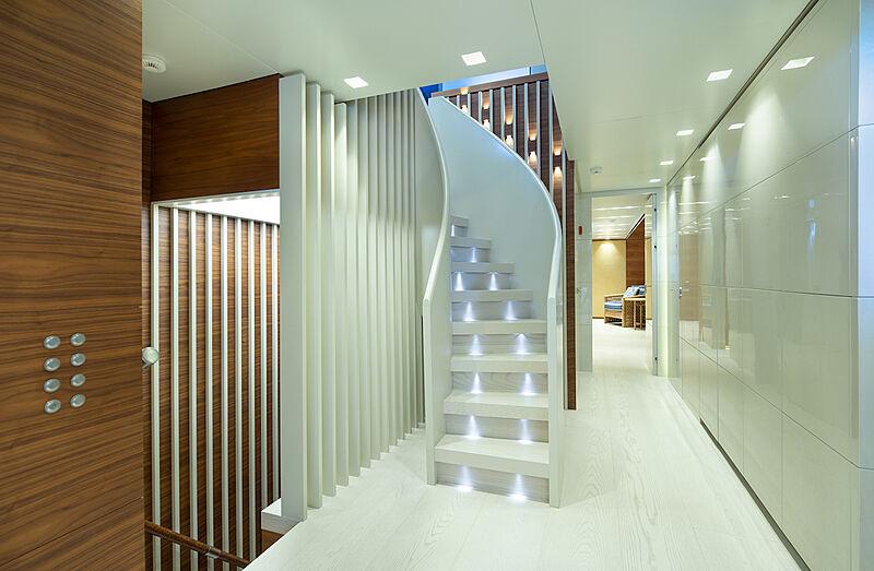 Asteri yacht hall & staircase