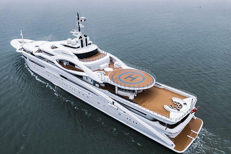 Maryah yacht in Vlissingen, the Netherlands