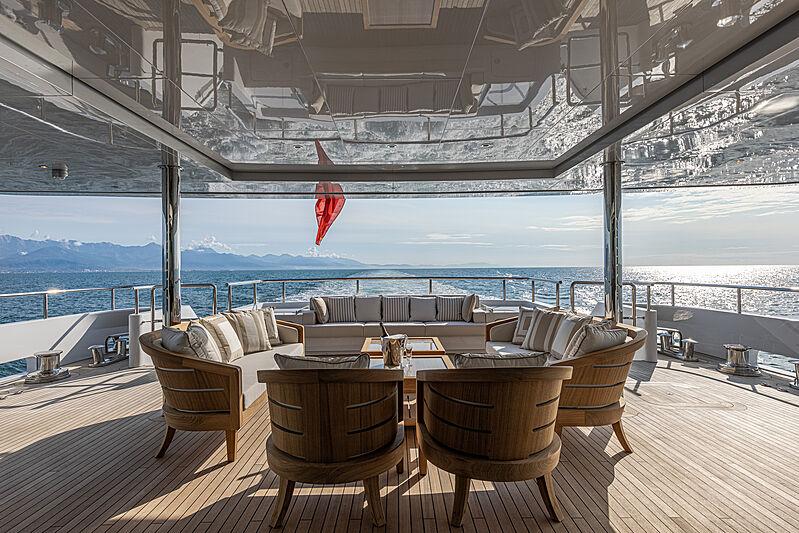 Framura yacht aft deck