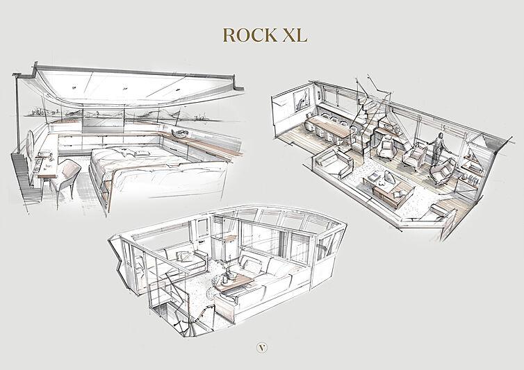 Rock XL yacht interior rendering