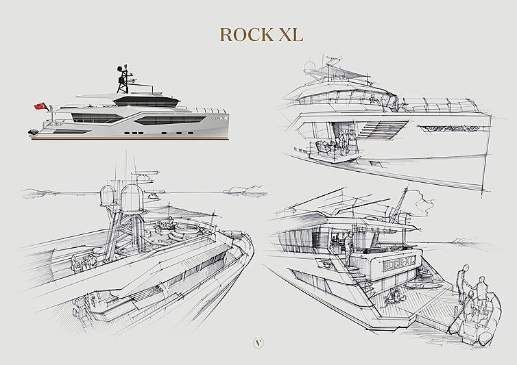 Rock XL yacht rendering