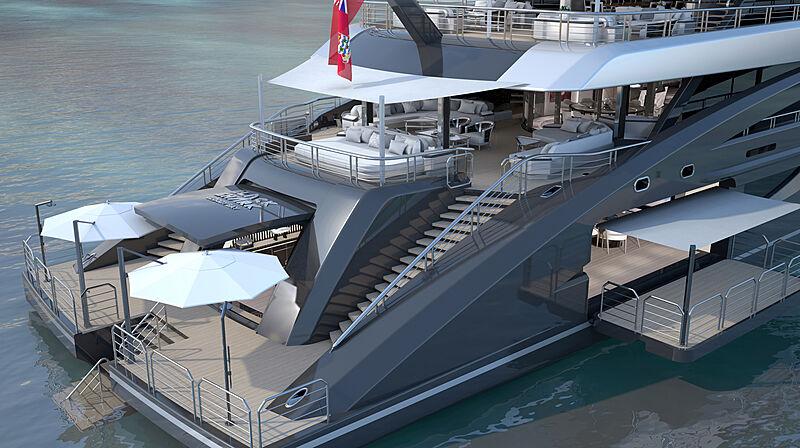 Black Shark yacht rendering
