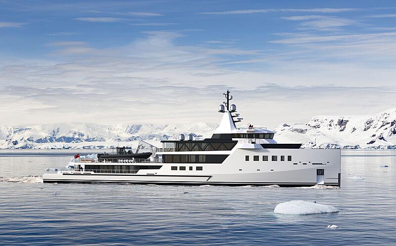 Damen Yachts full custom 72m hybrid yacht