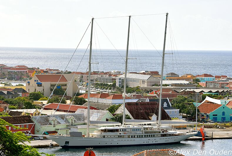 Athena yacht by Royal Huisman in Curaçao
