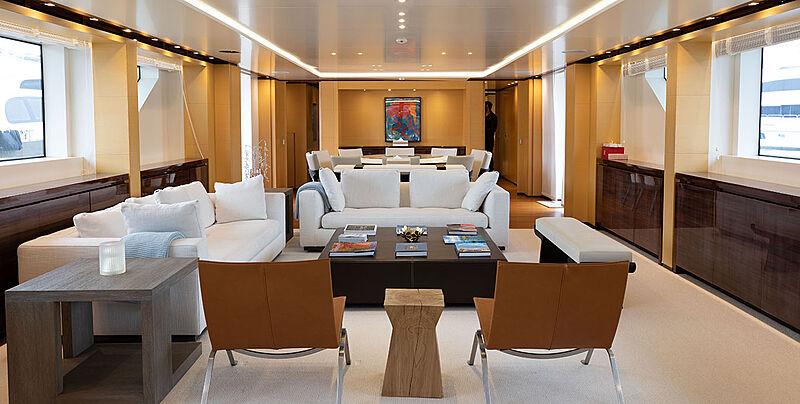Phoenix yacht main saloon