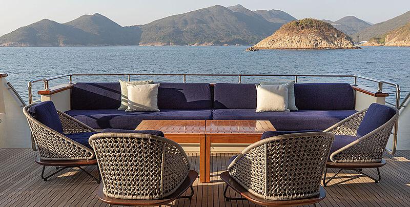 Phoenix yacht aft main deck