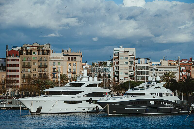 Volpini 2 and My Loyalty yachts in Barcelona