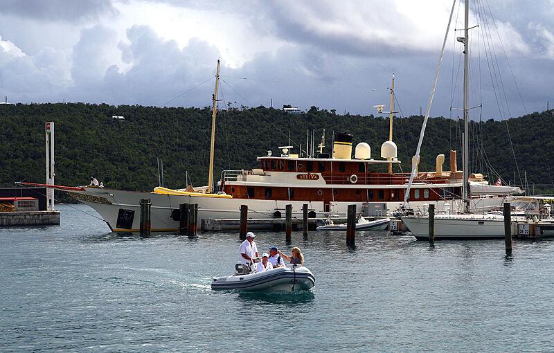 Arriva yacht in Charlotte Malie, US Virgin Islands
