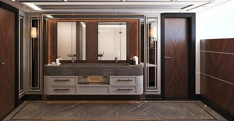Bering B145 #02 yacht interior design