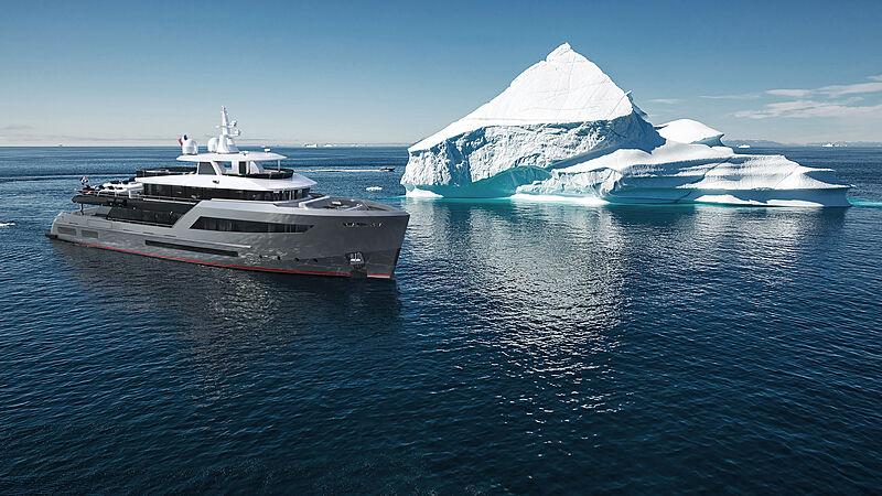 Bering B145 #02 yacht exterior design