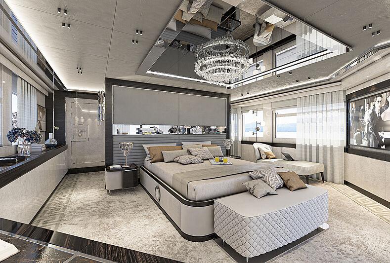 Numarine 37XP/01 yacht interior rendering