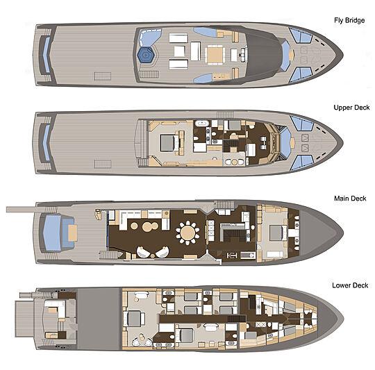 Numarine 37XP/01 yacht layout