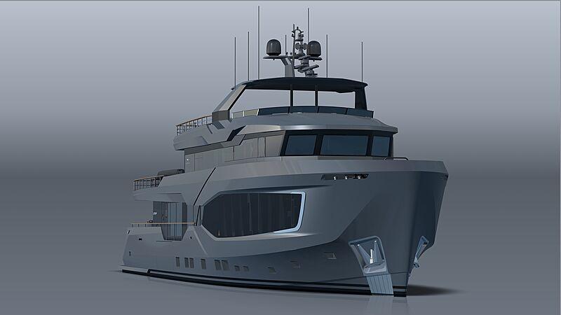 Numarine 37XP/01 yacht exterior rendering
