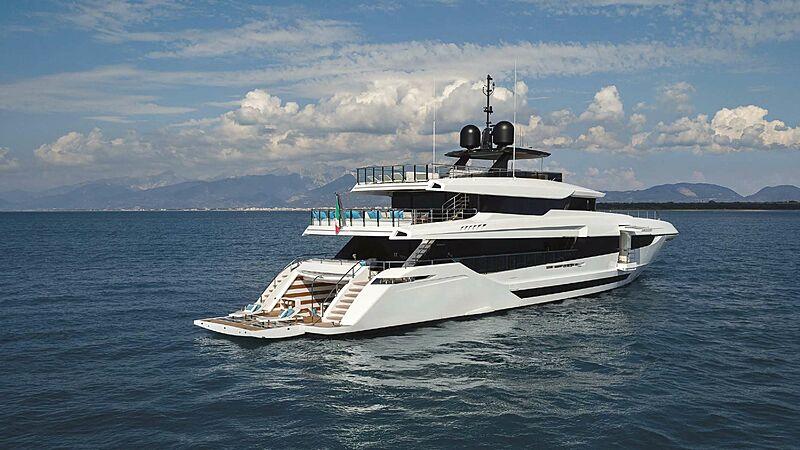 Halara yacht anchored