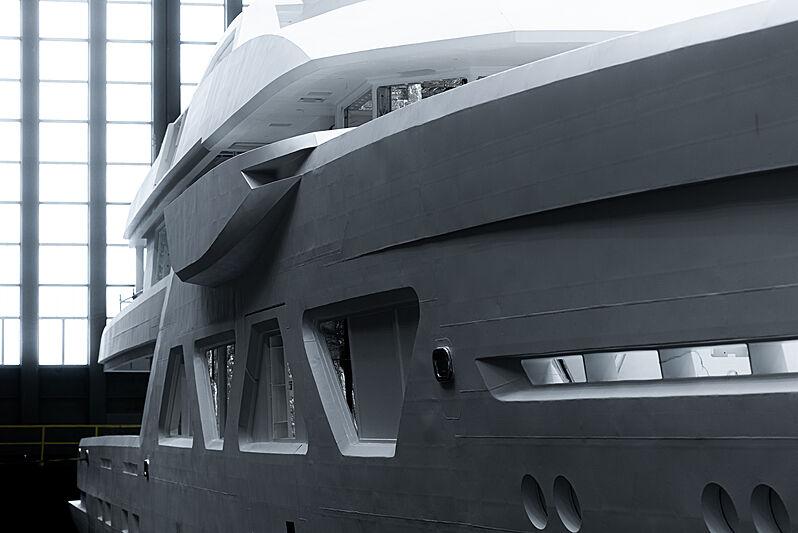 Amels 6001 yacht in build in Vlissingen