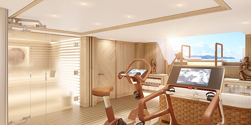 Amels 6001 yacht interior design