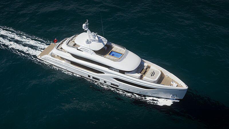 Conrad C144S yacht exterior design