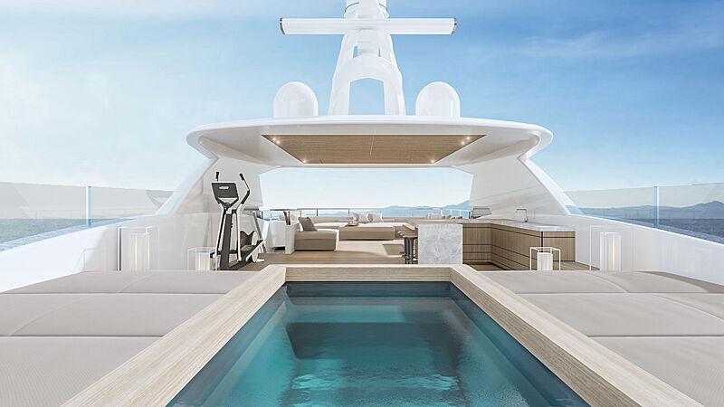 Conrad C144S yacht interior design