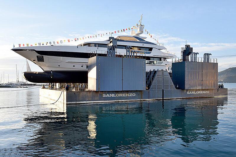 Sanlorenzo 52 Steel 131 yacht launch in La Spezia