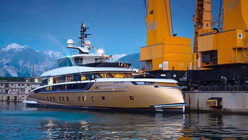Stefania yacht launch in Viareggio