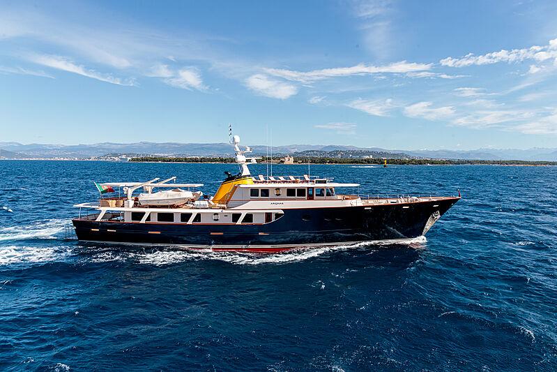 Arionas yacht running profile