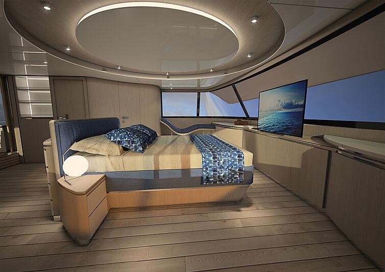 Silent 80 Tri-Deck Catamaran interior design