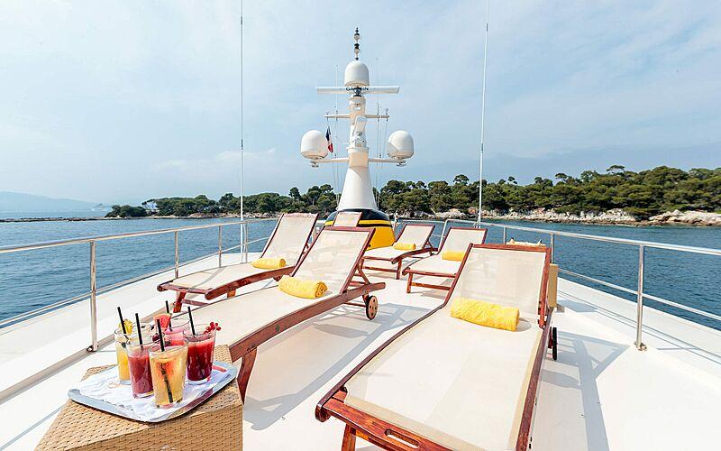 Arionas yacht sun deck
