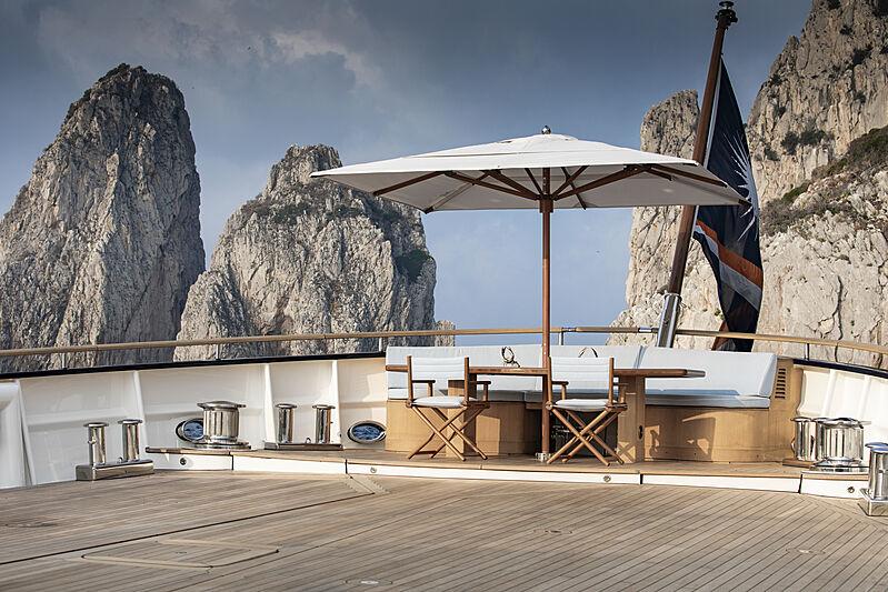 Blue II yacht deck