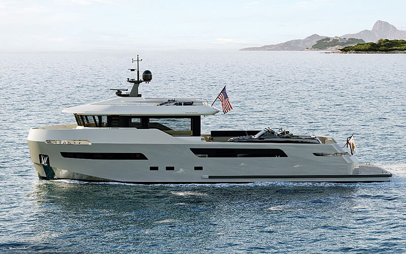 Lynx 27M Crossover yacht exterior rendering