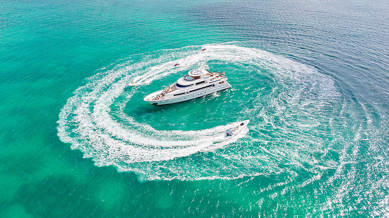 Endeavour yacht aerial
