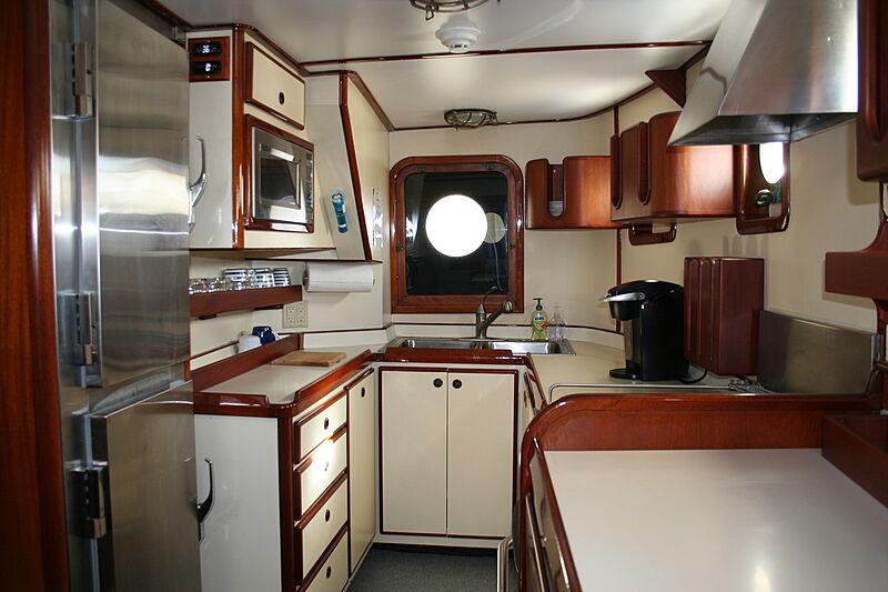 Sindbad yacht galley