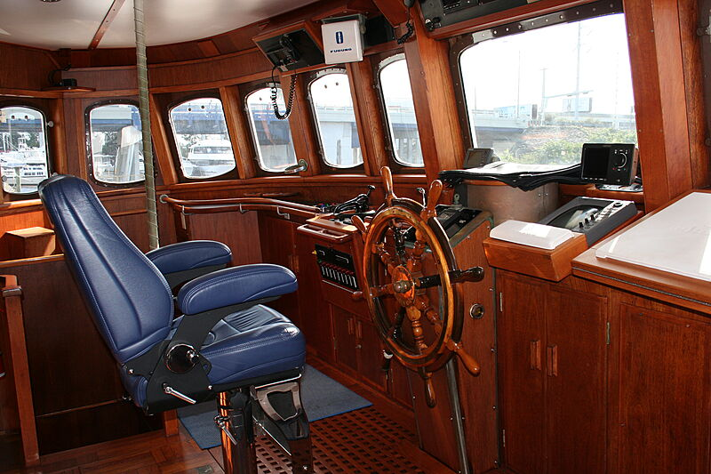 Sindbad yacht wheelhouse