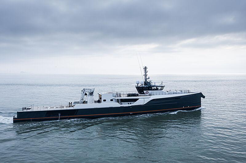 Gene Chaser yacht on sea trials off Vlissingen