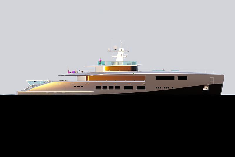 Nick Stark Design 53m hybrid yacht concept