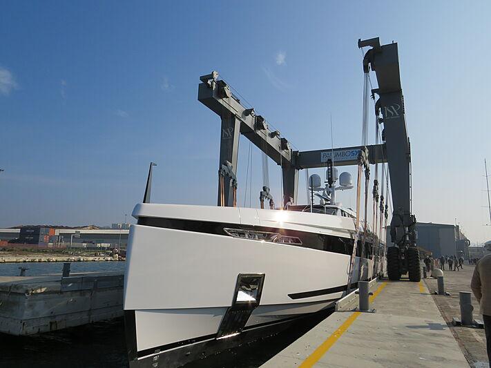 K2 yacht launch in Ancona