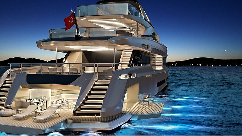 Mengi Yaya 47M Virtus yacht rendering