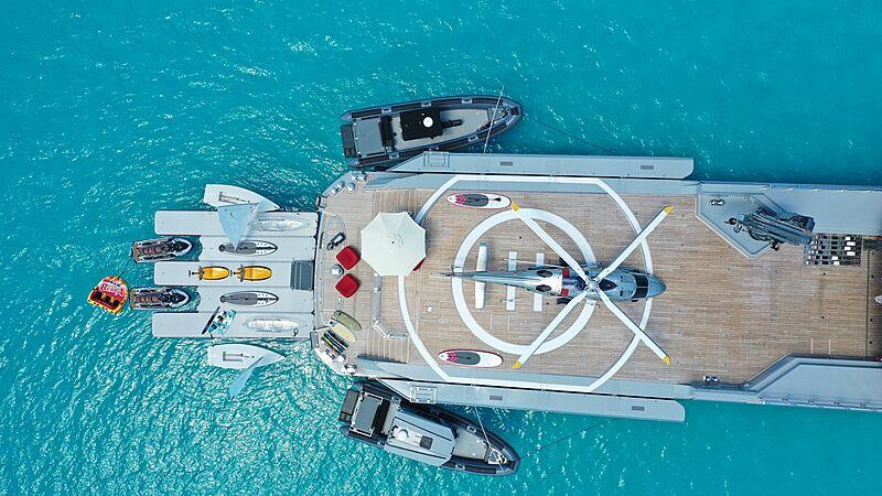 Bold yacht toys aerial