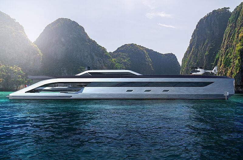 80m yacht concept Boss